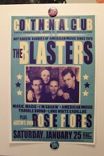 The BLASTERS + ROSIE FLORES Austin TX (2012) CONCERT POSTER country rockabilly