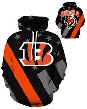 Cincinnati Bengals Hoodie Lightweight Small-XXXL 2XL Unisex Men Women Football