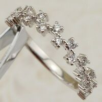 Size 5 6 7 8 9 10 Elegant Magic Hot White CZ Gems Jewelry Gold Filled Ring R2447