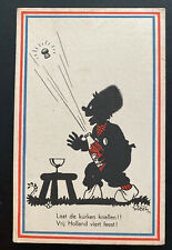 1946 Utrecht Netherlands Patriotic Postcard Cover Holland Is Free Bring The Wine
