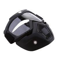 Antivento Maschera Con Occhiali Da Sole Viso Staccabile Per Moto - Chiaro