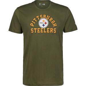 New Era NFL Pittsburgh Steelers Arch Wordmark T-Shirt Herren NEU