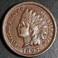 1897 INDIAN HEAD CENT - With LIBERTY - Near XF EF