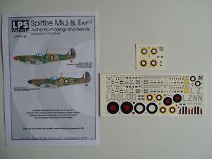 LPS decals 1/72 Spitfire Mk.I RAF