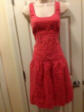 Talbots Size 6 Coral Linen Sheath Dress