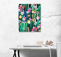 "16X20"" Art Poster Photo Print Wall Decor Canvas Painting Frame Blooming Cactus"