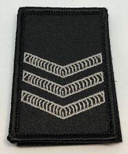 Police LBV Rank Patch #5, Black, NSW, VIC, WA, QLD, SA, NT, Hook Rear