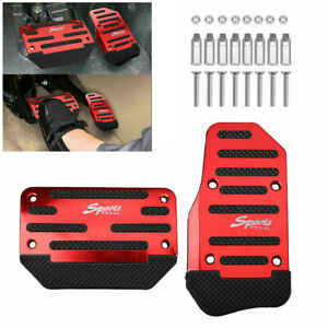 Universal Red Non-Slip Automatic Gas Brake Foot Pedal Pad Cover Car Accessories