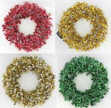 Ghirlande, corone e fiori natalizi bianco