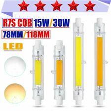 R7S LED 78mm/118mm COB Bulb Light Dimmable Jtype 15/30W Glass Tube Lamp 220V LOT