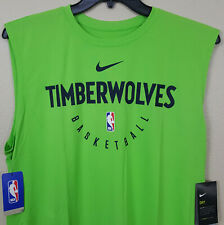 Nike Minnesota Timberwolves Nba Team Issued Shirt Green New Ar2646-313 Size 3Xlt