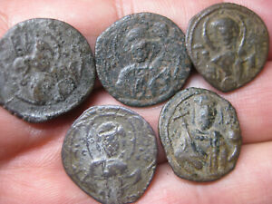 5 Authentic Byzantine BRONZE COINS-18-20mm