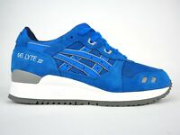 Asics Unisex Gel Lyte III H5U3L Mid Blue Lace Up Leather Casual Trainers