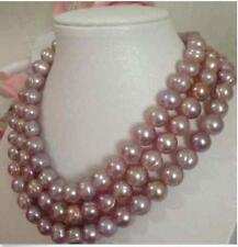 A 7-8MM south sea pink lavender baroque pearl necklace 48 inch 14k GP