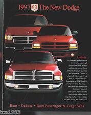 1997 Dodge TRUCKs Brochure :DAKOTA,RAM,VAN,PickUp,ST,LT,LARAMIE,DURANGO,SLT,1500