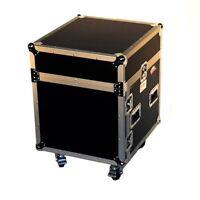 """Pro X T-10MRSS 10U x 10U Slanted DJ Rack Flight Case With Wheels+3/8"""" Wood"""