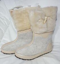 Zign Stiefel 39 beige grau Leder Fell Textil Winter Damen Winterstiefel Boots