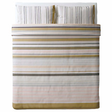 Ikea BLARIPS Full/Queen Duvet Cover and 2 Pillowcases set Striped Pink White