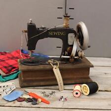 Vintage Style Antique Machine À Coudre Modèle Ornement avec Bibelot Couture Box