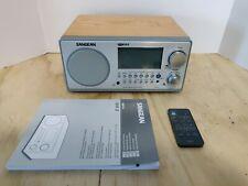 Sangean WR-2 FM-RDS/AM Digital Receiver Table Top Portable Radio - Oak Wood