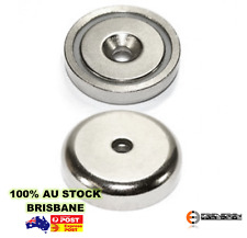 5x A32 Heavy Duty 32mm 25kg Neodymium Rare Earth Countersunk Shallow Pot Magnets