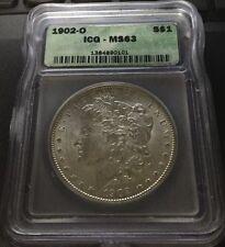 1902-O $1 Morgan Silver Dollar MS63 ICG