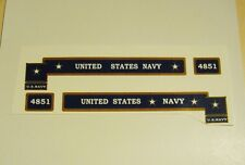 MARX 4851 ENGINE SIDEBOARD DECALS NAVY MILITARY EXCELLENT QUALITY LOOK AT PHOTOS