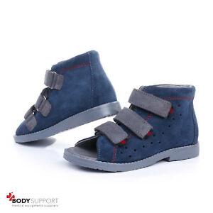 Kids Orthopedic Shoes Sandals Revention Flat Feet Girls Boys Leather Ankle Brace