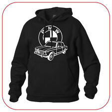 FELPA SWEATSHIRT BMW 2002 TII OLD GERMAN VINTAGE CAR BLACK