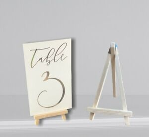 Wedding Table Number Holders - Rustic Wood Easels Table Decor - Photo Holder