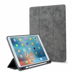 Hülle für Apple ipad Air 4 10,9 2020 Tasche mit eingebauten Stiftfach in Grau