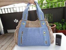 GEORGE GINA & LUCY GGL Limited Edition Tasche Textil  Leder Beige Blau Neuwer