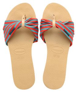 Havaianas Women's Flip Flops You St Tropez Sandals Ivory Sandal NWT