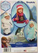 Simplicity 8029 Girl's Disney Frozen Hats Scarf Mittens Sewing Pattern