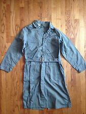 Vtg Lab Coat Work Jacket Shop Worker 38 Topmaster Sage Belted