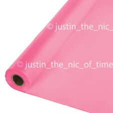 Amscan International Plastic Table Roll Bright Pink
