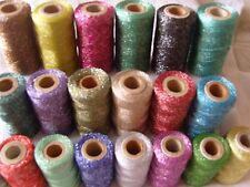 20 Metallic Embriodery Spools 20 Different Colours