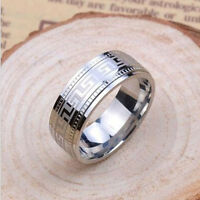 Unique Cool Men 's Titanium Steel Pattern Ring Stainless Steel Ring