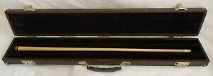 Vintage Palmer de Luxe Brown Hard Carry Case Pool Cue Shaft Billiards Stick Lot