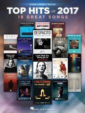 TOP HITS OF 2017 - PIANO VOCAL GUITAR SHEET MUSIC SONG BOOK