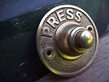 Vintage Style Brass Door Bell press push box pull knob knocker buzzer round