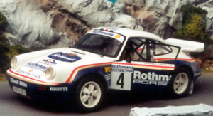 RALLY TRANSKIT 1/18 DECAL ROTHMANS PORSCHE 911 SCRS TOIVONEN 1984 1000 PISTES
