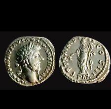 Marcus Aurelius AR Denarius Silver Roman Coin 176 AD - Good XF / AU