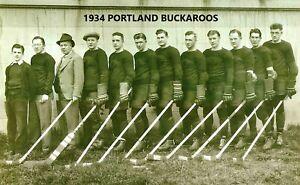 1934 PORTLAND BUCKAROOS 8X10 PHOTO HOCKEY NWHL