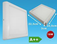 LED Panel Anbaleuchte eckig Deckenleuchte weiß Deckenlampe flach 18W 23x23cm