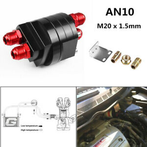 2x AN10 M20 Car Fitting Oil Cooler Filter Relocation Male Sandwich Plate Adapter