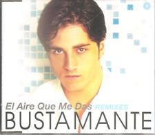 DAVID BUSTAMANTE - EL AIRE QUE ME DAS REMIXES CD SINGLE 5 TRACKS 2002 EXCELENTE