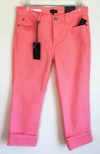 NYDJ NEW Not Your Daughters Dayla Wide Cuff Capri Crop Jeans Slimming Stretch 14
