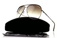 RARE New Authentic TOM FORD ERIN Pilot Matte Brown Gold Sunglasses TF 466 49E