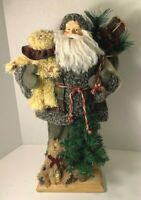 Cloth Santa With Teddy Bears & Christmas Tree